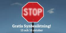 Synoptik kontrollerar förares syn på Bilprovningen - Rätt syn kan rädda liv i trafiken