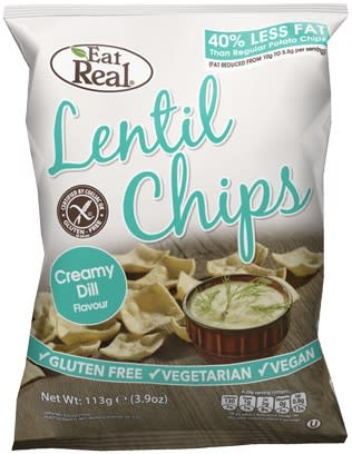 Lentilchips creamy dill