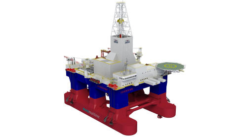 High res image - KM - Full Picture deliveries for a newbuild Awilco Drilling Owned Moss CS60Eco semi-submersible drilling rig