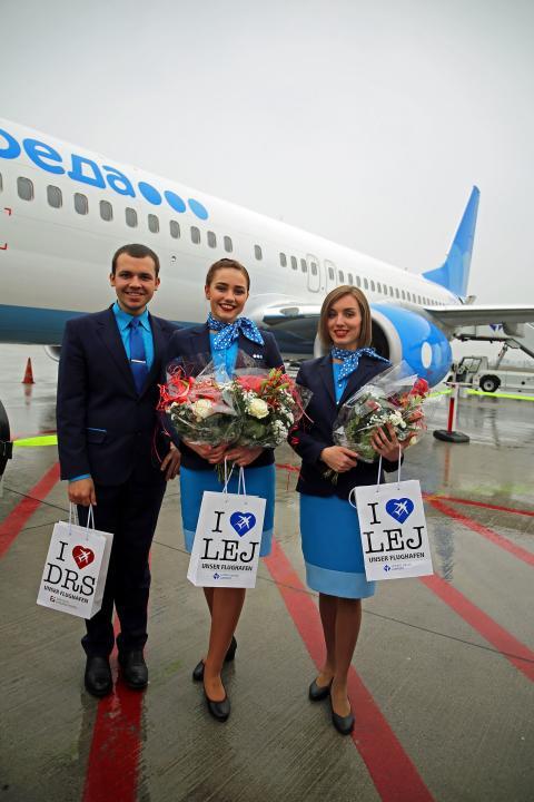 Von Moskau nach Leipzig - Airline Pobeda startete am 16. April 2018 wöchentliche Linienflugverbindung
