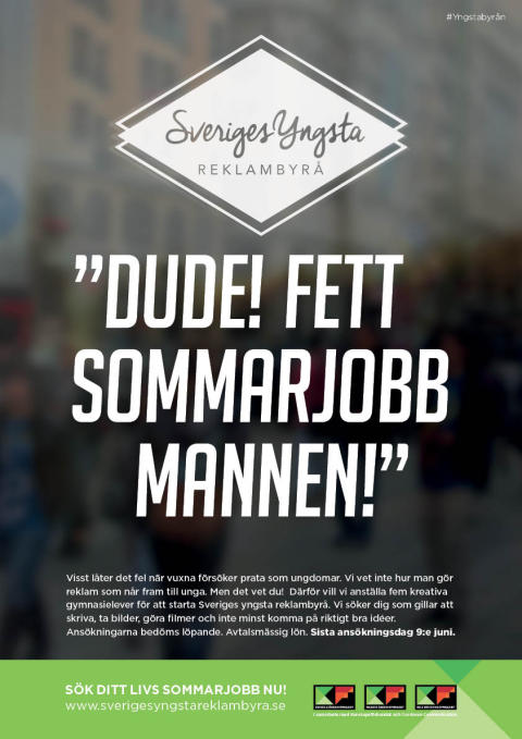 Affischer Sveriges Yngsta Reklambyrå.