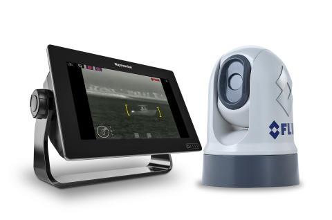 High res image - FLIR M200 Thermal Camera and Raymarine Axiom Multi-function Display