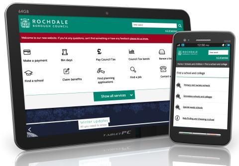 Rochdale's website attracts national praise and 'Crystal Mark'