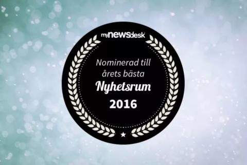 Purus nominerade till Årets Nyhetsrum 2016