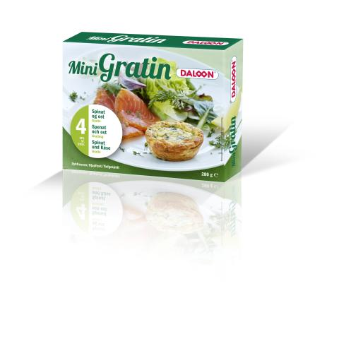 Daloon Mini Gratin med spinat & ost