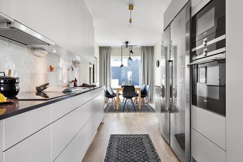 Nya småhusområdet i Lilla Sköndal är slutsålt, interör