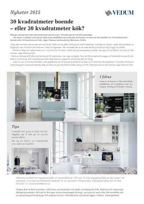 30 kvadratmeter boende – eller 30 kvadratmeter kök?