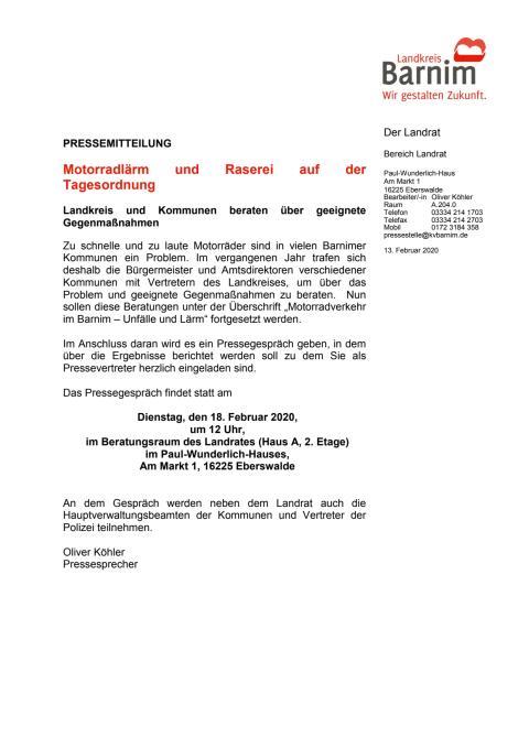 Einladung Motorradkonferenz