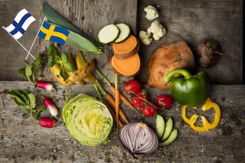 Suomi-Ruotsi -kasviskysely: suomalaiset arvostavat ruotsalaisia enemmän kasvisten kotimaisuutta