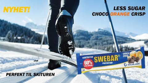 NYHET! SWEBAR Less Sugar Choco Orange Crisp