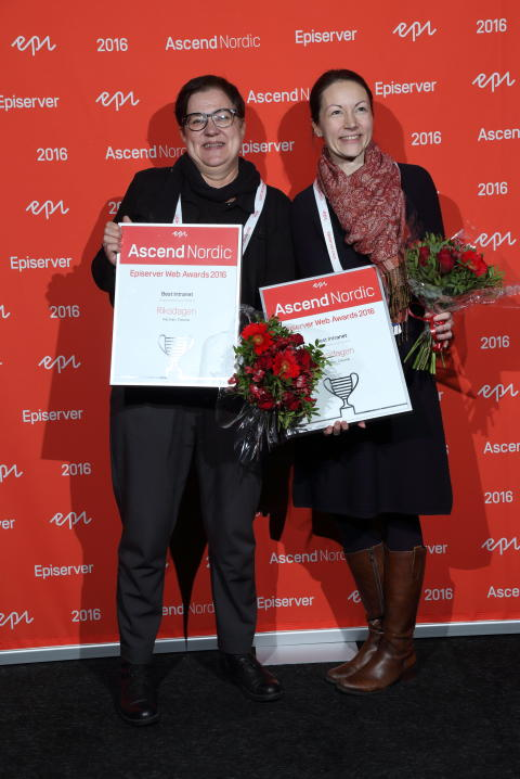 Riksdagen, vinnare i Intranätkategorin - Episerver awards 2016