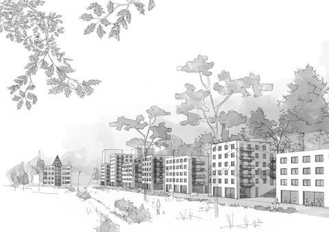 Oscar Properties bygger Kvarnbergsterrassen i Värmdö
