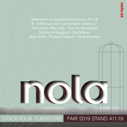 Nola Stockholm Furniture Fair 2019