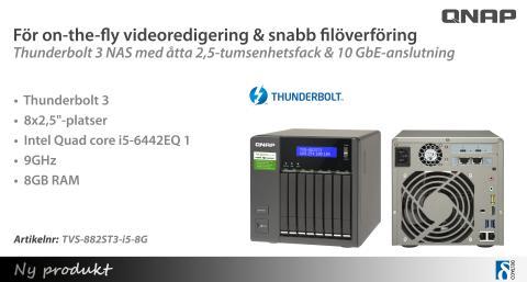 Upptäck nya Thunderbolt 3 NAS-kabinetten med 10 GbE-anslutning!