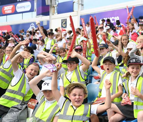 Thousands of children attend matches at this year's ICC Men's Cricket World Cup for free thanks to ICC Cricket World Cup Schools Programme