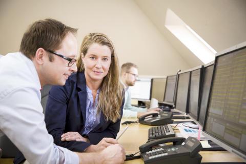 Magnus Reitersjö, chef finansiell handel och Matina Rosenberg, meterolog och analytiker på Bixia Energy Management