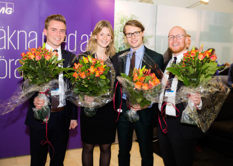 Göteborgs-studenter vann svenska finalen av KPMG International Case Competition