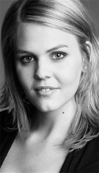 Elisabeth Mayer, Soprano, as Arbate in Mitridate at Drottningholms Slottsteater 2014