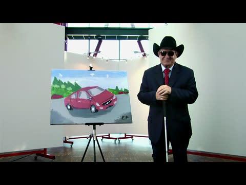 Blind konstnärs Volvo S60 tavla slog rekord på eBay auktion
