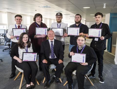 Dundee MSP applauds BT work placement graduates