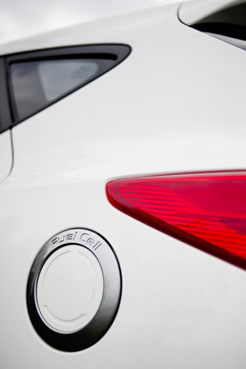 ix35 hydrogenbil - detalj tanklokk
