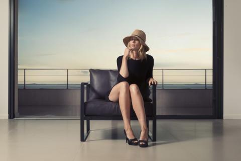 Monaco Lounge Chair Black