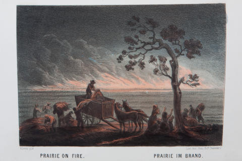 "Prairie on fire ur ""Das illustrirte Mississippithal"""