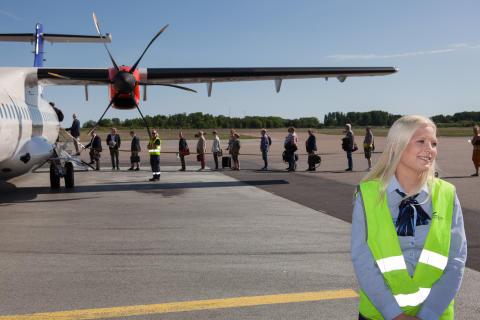 Historiskt passagerarrekord på Kalmar Öland Airport  i maj