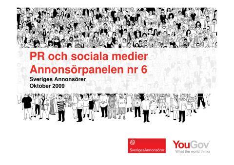 Annonsörpanelen nr 6 2009 - PR och sociala medier