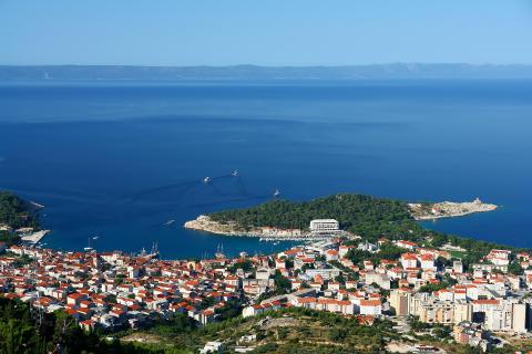 Makarska på Kroatiens riviera