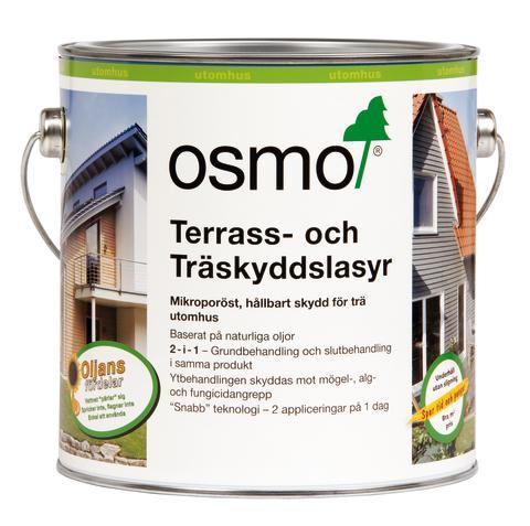 Tre nya kulörer Osmo Terrass- och Träskyddslasyr burk bild