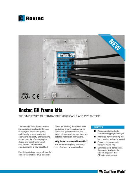 Roxtec Gh Frame Kits