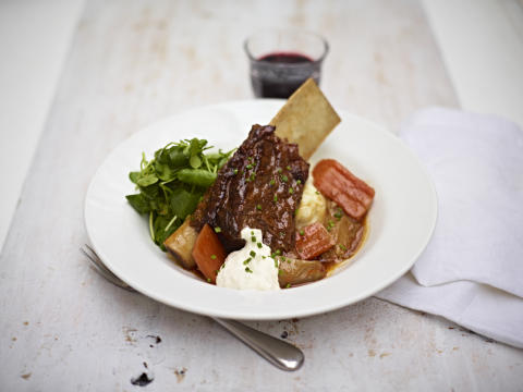 Main course from Autumn menu by Jamie Oliver