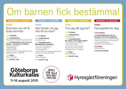Hyresgästföreningen på plats under Göteborgs kulturkalas