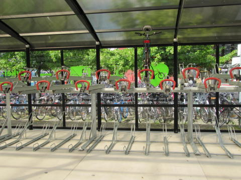 Cykelgarage interiört