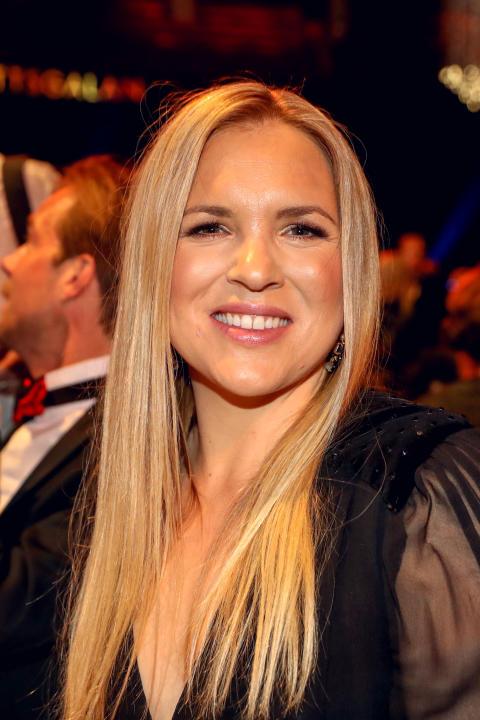Anja Pärson under Idrottsgalan den 15 januari 2018 i Stockholm.