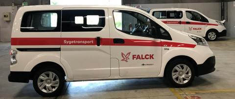 Falck introduces electric vehicles for patient transport