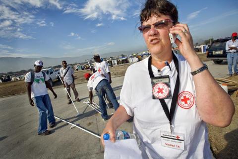Lena Fridman på plats i Haiti