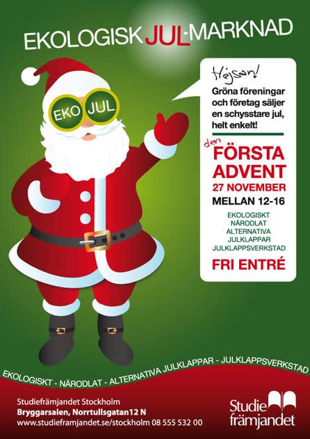 Ekologisk Julmarknad i Bryggarsalen med shopping, info och pyssel