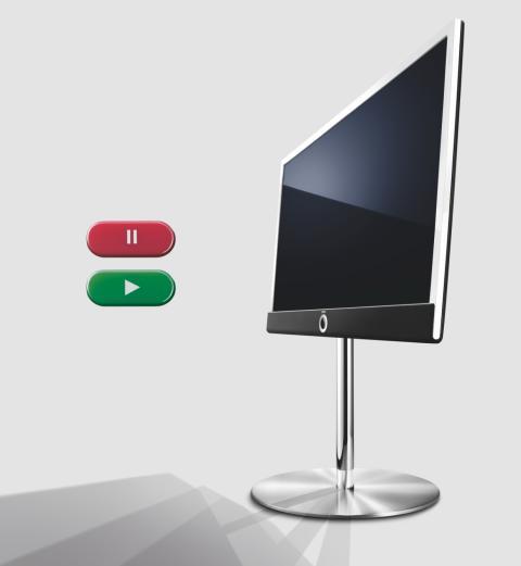 """Loewe Connect ID TV med indbygget harddisk - også kaldet DR+, som står for """"Digital Recorder inkluderet"""""""