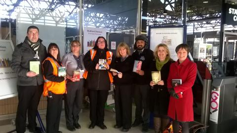 ​Best-selling author launches Bedford station book exchange