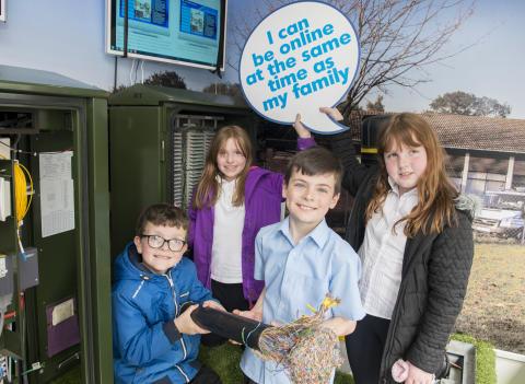 Coupar Angus pupils get a lesson with fibre broadband