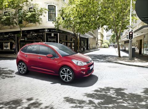 Nya Citroën C3 statisk i miljö