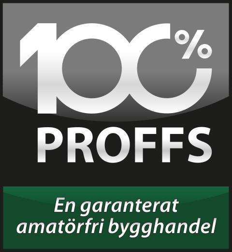 Proffs - Garanterat amatörfri bygghandel - Svart linje
