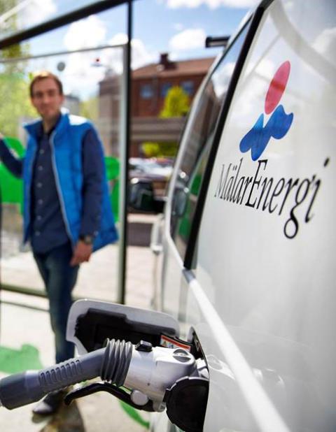 Mälarenergis fordonsflotta – inte längre beroende av fossila bränslen.