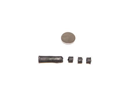 Grafensvampen och ett knappbatteri.