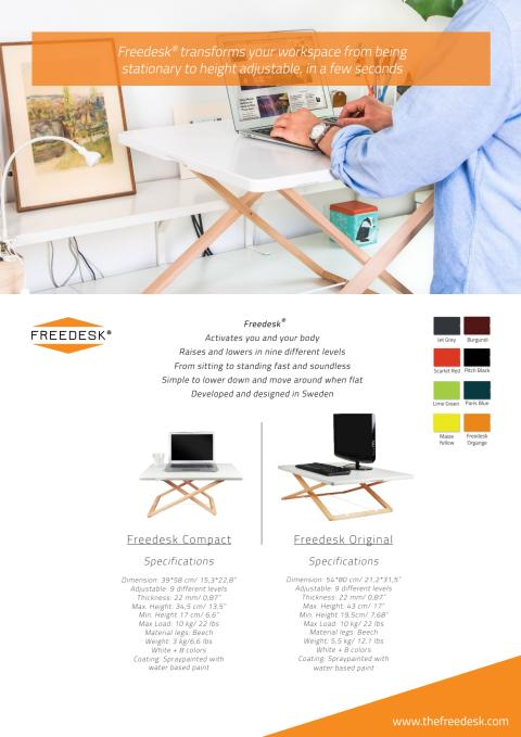 Freedesk förser marknaden med stå-upp-lösningar