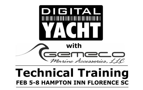 Digital Yacht Hands On Training at Gemeco Event - Florence SC - February 5th