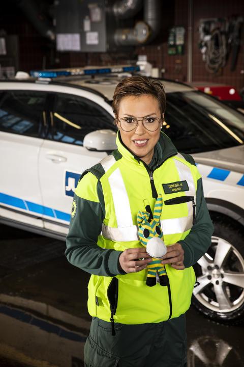Ambulans med Zonny inför Blåljusgalan 2019