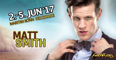 Matt Smith Doctor Who kommt zum Science Fiction Mega Event FedCon nach Bonn